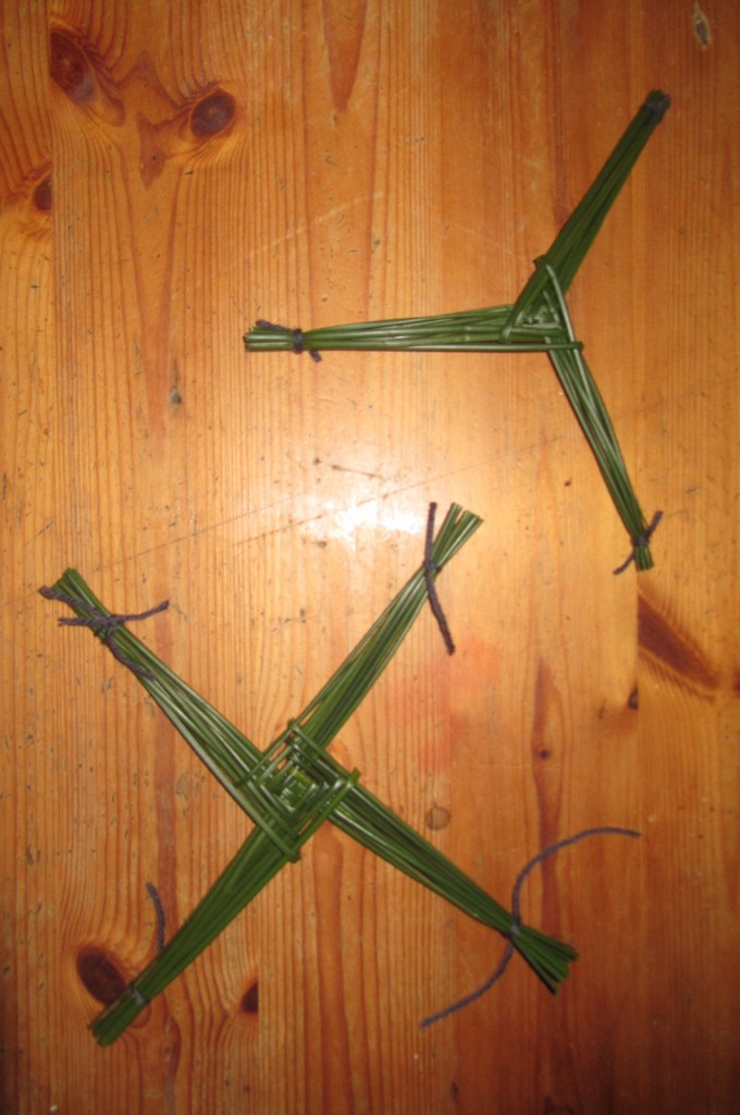 St. Brigid's crosses.